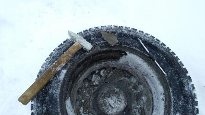 Воздействие на обод колеса снега и грязи