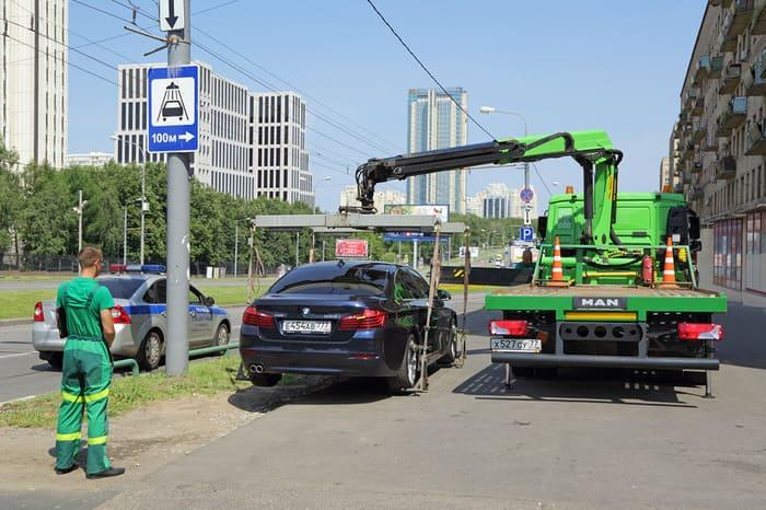 Порядок действий при эвакуации автомобиля в москве